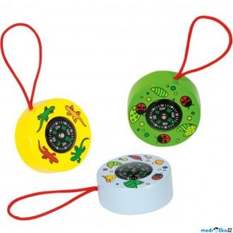 Dřevěné hračky - Dětský kompas - Zvířátka, 1ks (Goki)