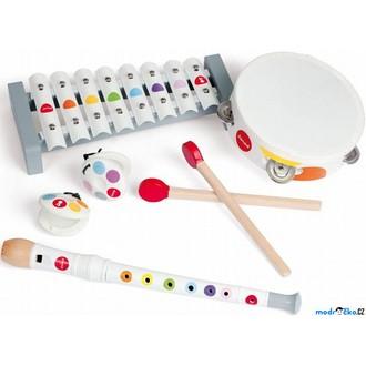 Dřevěné hračky - Hudba - Muzikální set, 4 nástroje (Janod)