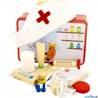 Dřevěné hračky - Doktor - Set v kufříku, Doktorka (Bino)