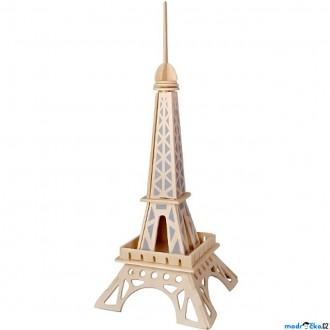 Puzzle a hlavolamy - 3D Puzzle přírodní - Eiffelova věž menší