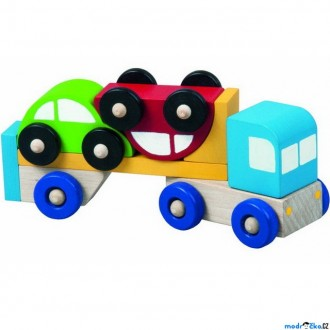 Dřevěné hračky - Auto - Truck s autíčky (Detoa)
