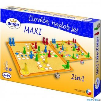 Dřevěné hračky - Člověče, nezlob se - Maxi 2 in1 (Detoa)