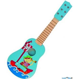 JIŽ SE NEPRODÁVÁ - Hudba - Kytara, Piráti modrá, 6 strun (Woody)