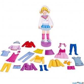 Puzzle a hlavolamy - Puzzle oblékání magnetické - Dívka + 10 oblečků (Goki)