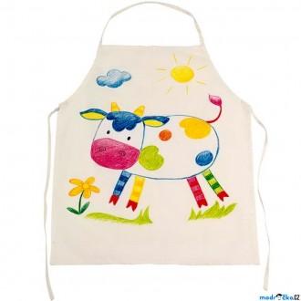 Ostatní hračky - Malování na textil - Zástěra bavlněná (Goki)