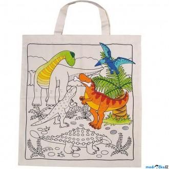 Nedřevěné hračky - Malování na textil - Taška bavlněná, Dinosauři (Goki)