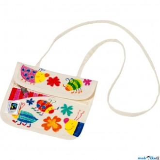Ostatní hračky - Malování na textil - Peněženka bavlněná (Goki)