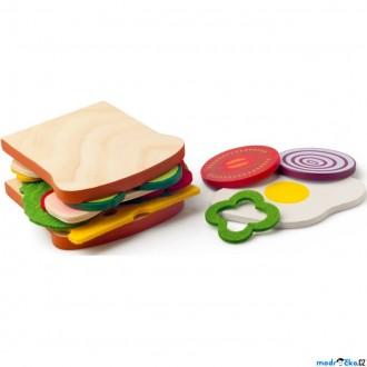 Dřevěné hračky - Kuchyň - Připrav si svůj sendvič (Woody)