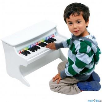 Dřevěné hračky - Hudba - Klavír dětský bílý (Legler)