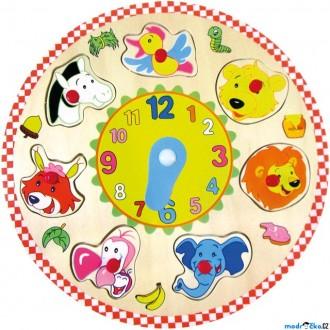 Dřevěné hračky - Puzzle hodiny - Zvířátka (Bino)