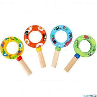 Na ven a sport - Dětská lupa - Barevná malá ze dřeva, 1ks (Legler)