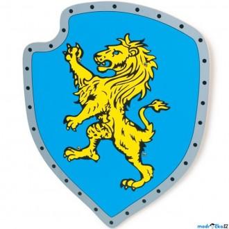 JIŽ SE NEPRODÁVÁ - Dětská zbraň - Štít Žlutý lev dřevěný (Legler)