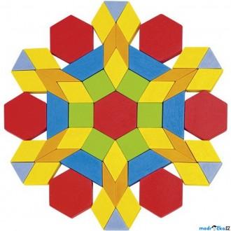 Stavebnice - Mozaika - Dřevěná v kyblíku, 250 dílků (Goki)