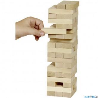 Dřevěné hračky - Jenga přírodní - Společenská hra (Goki)