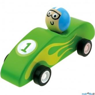 JIŽ SE NEPRODÁVÁ - Auto - Natahovací autíčko, Zavodní zelené (Bino)