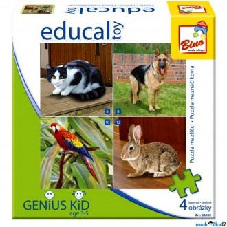 Ostatní hračky - Didaktická hra - Educal Toy, Puzzle domácí mazlíčci (Bino)