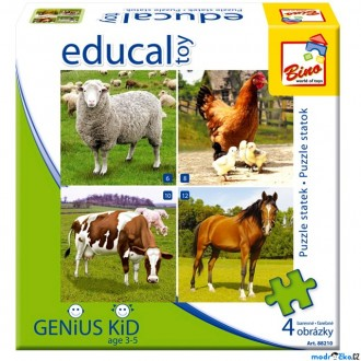 JIŽ SE NEPRODÁVÁ - Didaktická hra - Educal Toy, Puzzle farma (Bino)