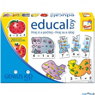 Ostatní hračky - Didaktická hra - Educal Toy, Hraj si a počítej (Bino)