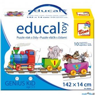 Ostatní hračky - Didaktická hra - Educal Toy, Puzzle vlak s čísly (Bino)