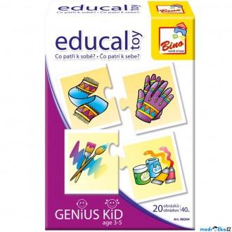 JIŽ SE NEPRODÁVÁ - Didaktická hra - Educal Toy, Co patří k sobě? (Bino)