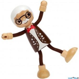 Dřevěné hračky - Panenky do domečku - Moderní, Dědeček (Hape)