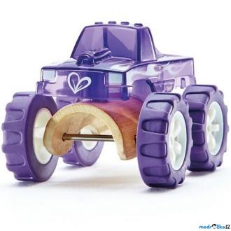 Dřevěné hračky - Auto - Autíčko mini Monster Truck fialové (Hape)