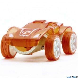 Dřevěné hračky - Auto - Autíčko mini Twin Turbo oranžové (Hape)
