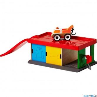 Dřevěné hračky - Garáž - S odtahovým vozem, LILLABO (Ikea)