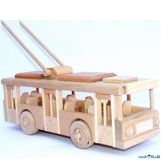 Dřevěné hračky - Ceeda Cavity - Trolejbus