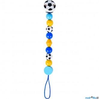 Pro nejmenší - Klip na dudlík - Fotbal modrý (Heimess)