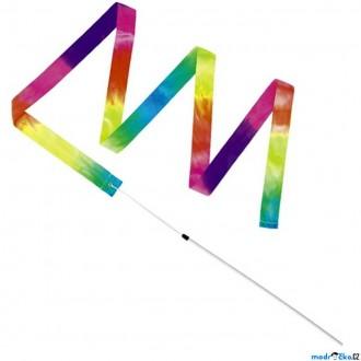 Na ven a sport - Gymnastická stuha s hůlkou - Barevná (Goki)