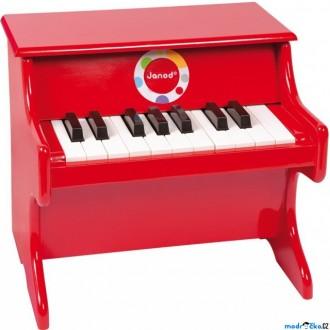 Dřevěné hračky - Hudba - Klavír dětský, Červený (Janod)