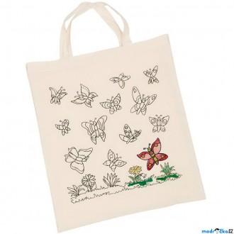 Ostatní hračky - Malování na textil - Taška bavlněná, Motýli (Goki)