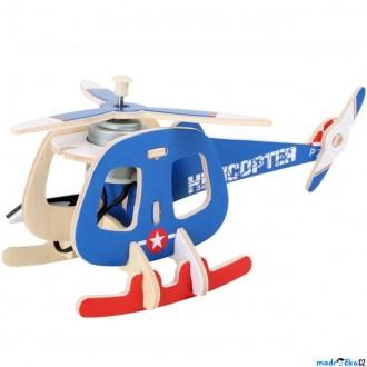 Stavebnice - Stavebnice solární - Vrtulník barevný (Legler)
