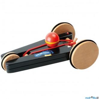 Dřevěné hračky - Auto - Na gumičku, Spin-Car trojkolka (Legler)