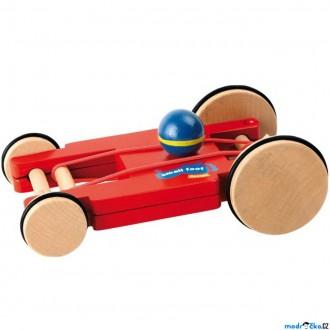 Dřevěné hračky - Auto - Na gumičku, Spin-Car čtyřkolka (Legler)