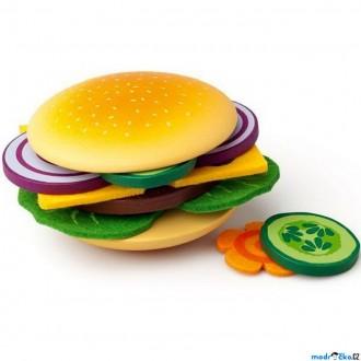 Dřevěné hračky - Kuchyň - Připrav si svůj hamburger (Woody)