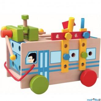 Dřevěné hračky - Auto montážní - Autobus s nářadím (Woody)