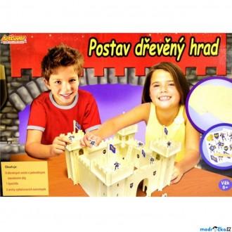 Dřevěné hračky - Výtvarná sada box - Postav dřevěný hrad