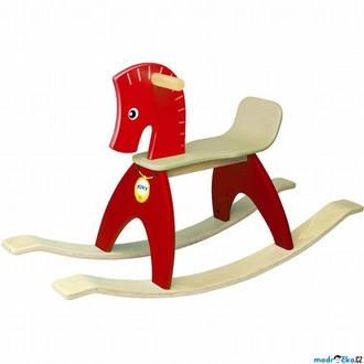 Dřevěné hračky - Houpadlo - Houpací kůň, červený (Wonderworld)