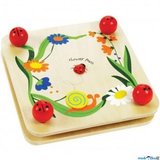 Dřevěné hračky - Herbář - Lis na květiny a listy, Beruška (Bigjigs)