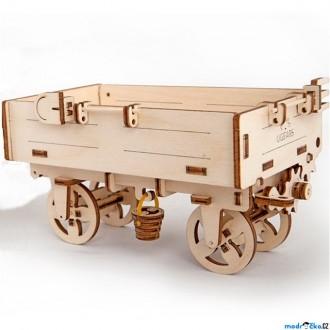 Puzzle a hlavolamy - 3D mechanický model - Vlečka (Ugears)