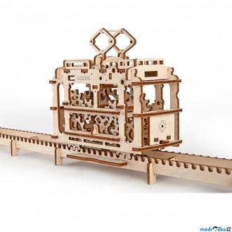 Puzzle a hlavolamy - 3D mechanický model - Tramvaj (Ugears)