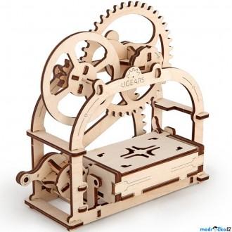 Puzzle a hlavolamy - 3D mechanický model - Mechanická krabička (Ugears)
