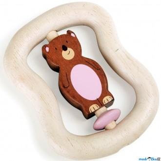 Pro nejmenší - Chrastítko - Hračka do ruky, Medvěd hnědý (Legler)