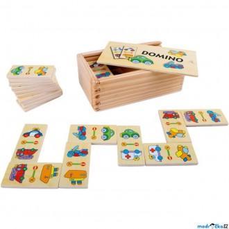 Dřevěné hračky - Domino - Vozidla, 28ks (Legler)