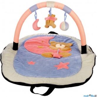 Pro nejmenší - Hrazdička - Cestovní hrací deka s hrazdou, Medvídek (Bino)