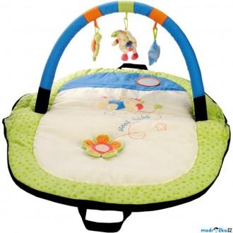 Pro nejmenší - Hrazdička - Cestovní hrací deka s hrazdou, Slon (Bino)