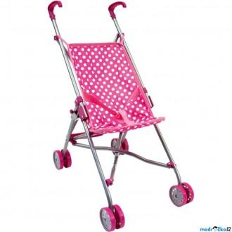 Dřevěné hračky - Kočárek pro panenky - Golfové hole, růžový (Bino)