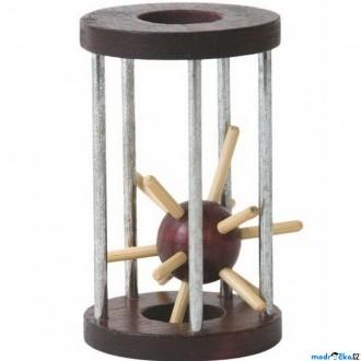 JIŽ SE NEPRODÁVÁ - Hlavolam dřevěný - Ježek v kleci (Woody)